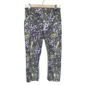 Lululemon Wunder Under High Waist Crop Pant Floral